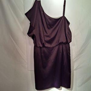 Jessica Simpson One Shldr Satin Dress Wm 12 Coffee